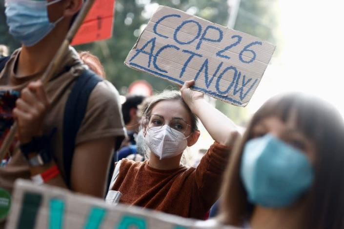 FILE PHOTO: 'Global march for climate justice' in Milan