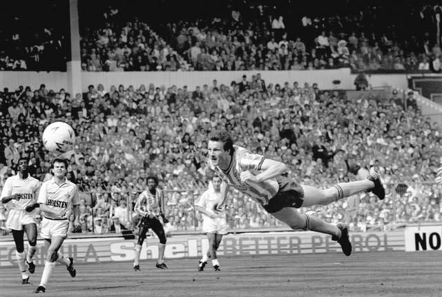 Keith Houchen's diving header is one of the most memorable FA Cup final goals (PA Archive)