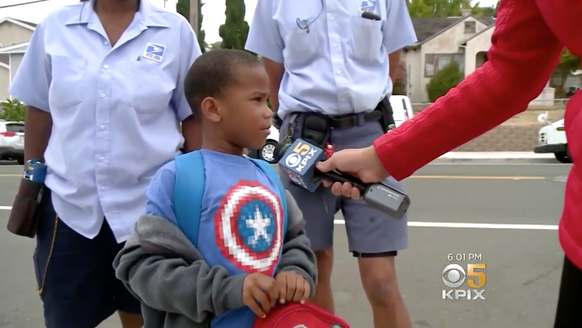 The 5-year-old used familiar landmarks to find his way home. (Photo: KPIX)