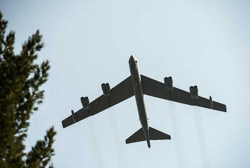 The Pentagon's dispatch to the region around Iran in the last few days of an aircraft carrier group and nuclear-capable B-52 bomber planes, like the one seen here, was not meant to be subtle (AFP Photo/Elliott VERDIER)