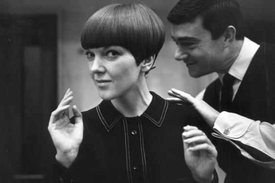 Mary Quant with Vidal Sassoon, photograph by Ronald Dumont, 1964 (Victoria and Albert Museum)