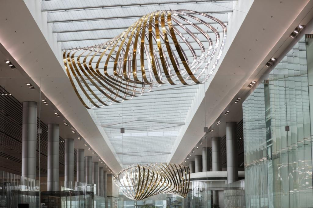 "<p><b><a rel=""nofollow"" href=""http://www.changiairport.com/"">Changi Airport </a>(Singapore)</b><br /> Petalclouds, the kinetic sculpture that spans 200 metres, is another visual which illuminates and animates the airport, showing slow moving clouds gliding to the sounds of BAFTA award-winning composer, Ólafur Arnalds. (Changi Airport Group) </p>"