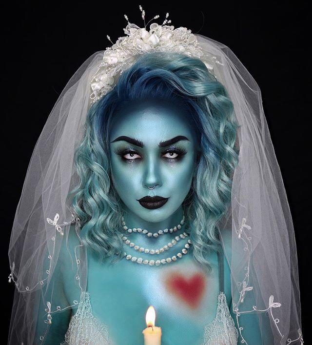 "<p>'Til death do us part, indeed. This breathtaking look was inspired by Constance, the infamous bride from Disney's Haunted Mansion.</p><p><a href=""https://www.instagram.com/p/CABTzFepYNC/&hidecaption=true"" rel=""nofollow noopener"" target=""_blank"" data-ylk=""slk:See the original post on Instagram"" class=""link rapid-noclick-resp"">See the original post on Instagram</a></p>"