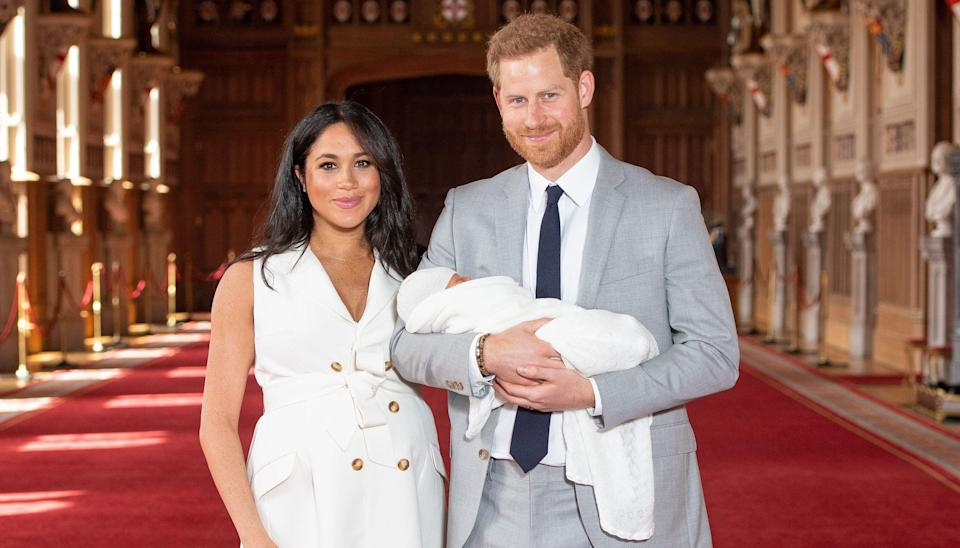 The Duke and Duchess of Sussex reveal their newborn son to the world [Photo: PA]