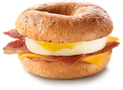 <p>Fresh multi-grain bagel topped with hickory-smoked bacon, Canada Grade A egg, and a slice of processed cheddar cheese; coming in at a staggering 30 grams of fat (12 grams saturated) and 1090 mg of sodium. <br> — Calories: 620 <br> — Fat: 30g (Saturated Fat 12 g) <br> — Sodium: 1,090 mg <br> — Carbohydrates: 63 g <br> — Sugar: 7 g <br> — Source/Photo: McDonald's Canada </p>