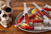 """<p>Halloween isn't just for the kiddos. If you're looking to host an adults-only Halloween bash this year, spook your guests with these bewitchingly delicious recipes—Bloody Mary Syringes included. </p><p>And for more boozy ideas, check out our <a href=""""https://www.delish.com/holiday-recipes/halloween/g2471/halloween-drink-recipes/"""" rel=""""nofollow noopener"""" target=""""_blank"""" data-ylk=""""slk:Halloween drinks"""" class=""""link rapid-noclick-resp"""">Halloween drinks</a> and <a href=""""https://www.delish.com/holiday-recipes/halloween/g3044/halloween-punch/"""" rel=""""nofollow noopener"""" target=""""_blank"""" data-ylk=""""slk:Halloween punch recipes"""" class=""""link rapid-noclick-resp"""">Halloween punch recipes</a>.</p>"""