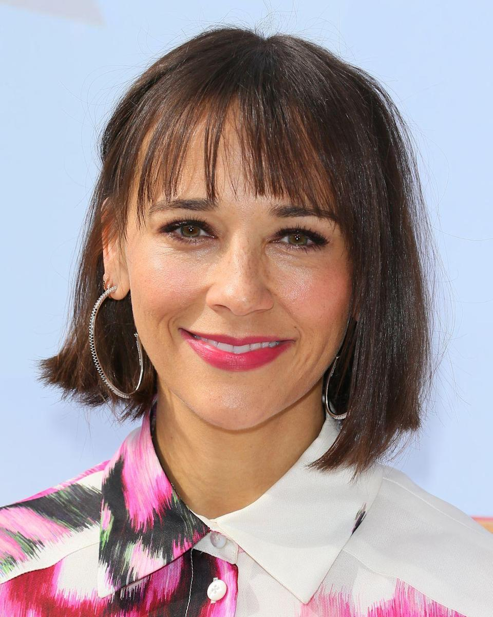 <p>You don't need to take dramatic leaps in your color to change up your overall look. Take <strong>Rashida Jones</strong>'s toned-down brunette color that hits the right amount of shimmer under a sea of lights.</p>