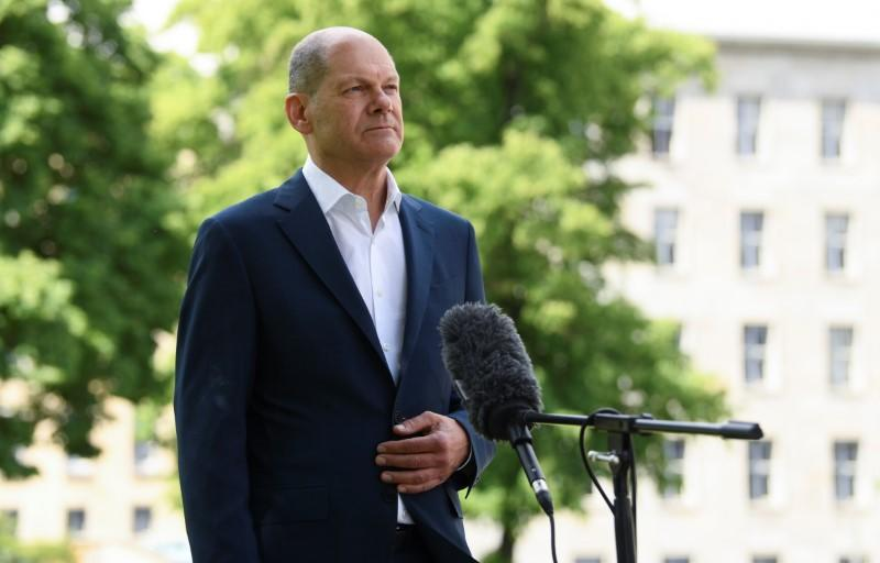 German Finance Minister Scholz during an exclusive interview with Reuters in Berlin