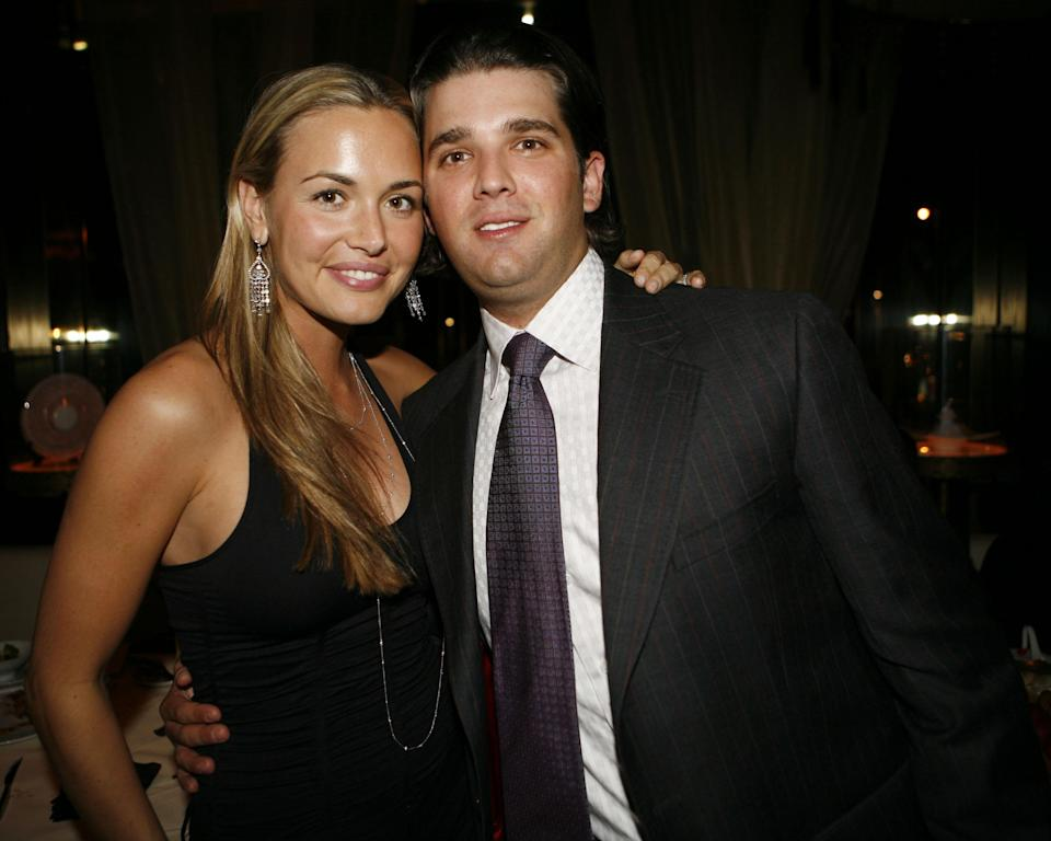 Vanessa Trump and Donald Trump Jr. could be on vacation together, just after announcing their divorce. (Photo: Getty Images)