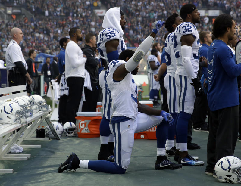 Antonio Cromartie believed he was cut because he took a knee. (AP Photo/Matt Dunham)