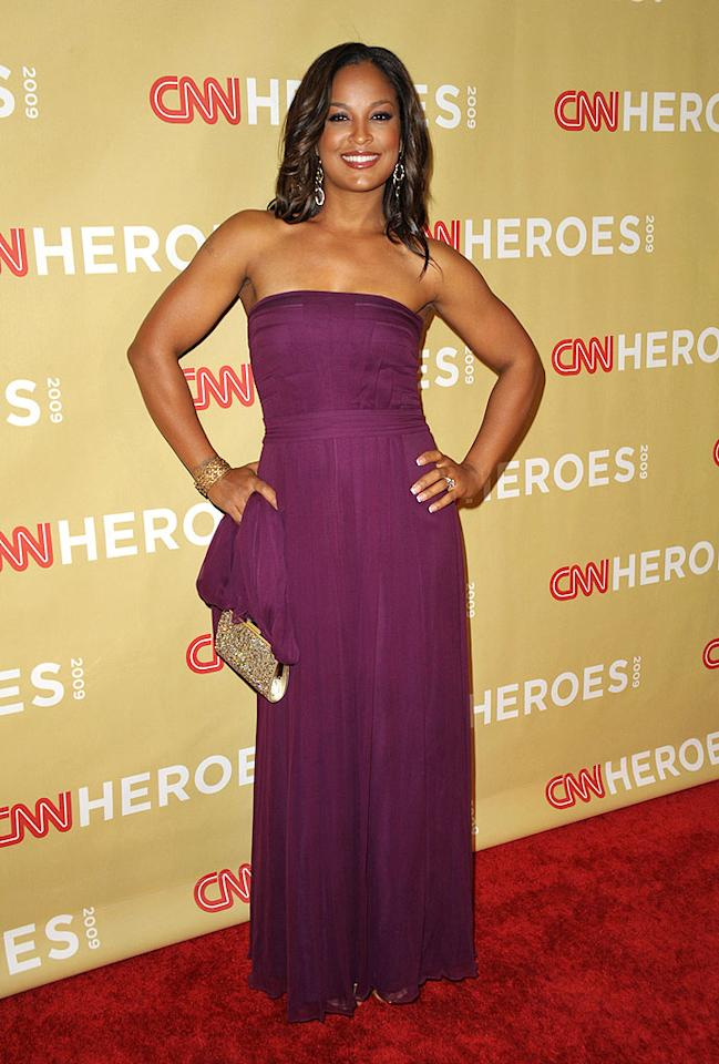 """Laila Ali couldn't have looked any lovelier in her strapless magenta gown. John Shearer/<a href=""""http://www.wireimage.com"""" target=""""new"""">WireImage.com</a> - November 21, 2009"""