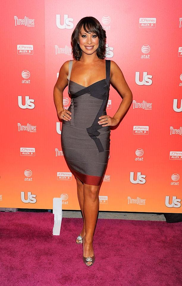 """Dancing With the Stars'"" Cheryl Burke showed off her fit physique in a skintight Herve Leger bandage dress. Todd Williamson/<a href=""http://www.wireimage.com"" target=""new"">WireImage.com</a> - April 22, 2009"