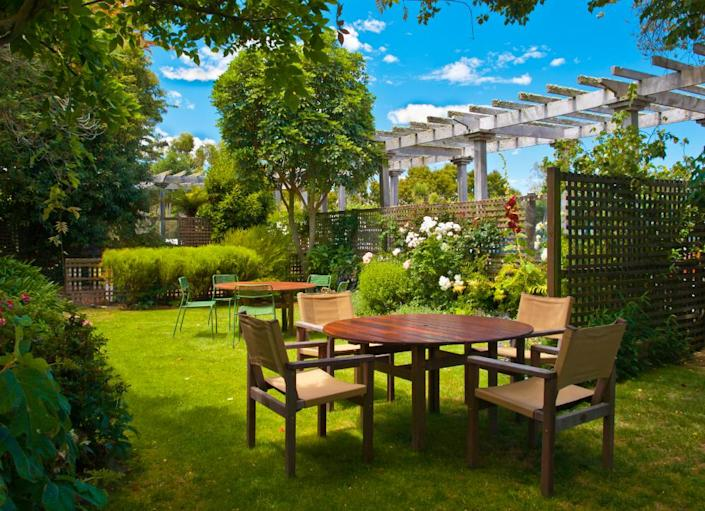 """<body> <p>If you're interested in more makeover ideas for your home exterior, try:</p> <p><a href="""" http://www.bobvila.com/matt-blashaw/44638-7-easy-budget-friendly-backyard-makeovers/slideshows#.VQmdwWTF8bo?bv=yahoo"""" rel=""""nofollow noopener"""" target=""""_blank"""" data-ylk=""""slk:7 Easy Budget-Friendly Backyard Makeovers"""" class=""""link rapid-noclick-resp"""">7 Easy Budget-Friendly Backyard Makeovers</a> </p> <p><a href="""" http://www.bobvila.com/ring-my-bell/8656-10-simple-under-60-curb-appeal-updates-for-any-home/slideshows#.VQmpxGTF8bo?bv=yahoo"""" rel=""""nofollow noopener"""" target=""""_blank"""" data-ylk=""""slk:10 Simple &quot;Under $60&quot; Curb Appeal Updates for Any Home"""" class=""""link rapid-noclick-resp"""">10 Simple """"Under $60"""" Curb Appeal Updates for Any Home</a> </p> <p><a href="""" http://www.bobvila.com/off-white-house/47419-8-exterior-paint-colors-that-might-help-sell-your-house/slideshows?bv=yahoo"""" rel=""""nofollow noopener"""" target=""""_blank"""" data-ylk=""""slk:8 Exterior Paint Colors That Might Help Sell Your House"""" class=""""link rapid-noclick-resp"""">8 Exterior Paint Colors That Might Help Sell Your House</a> </p> </body>"""