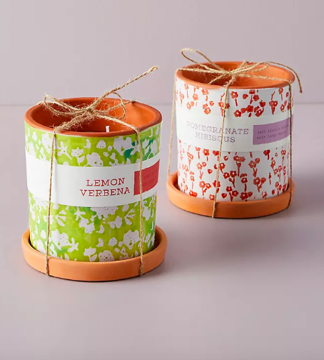 Blooming Terracotta Planter Candle. Image via Anthropologie.