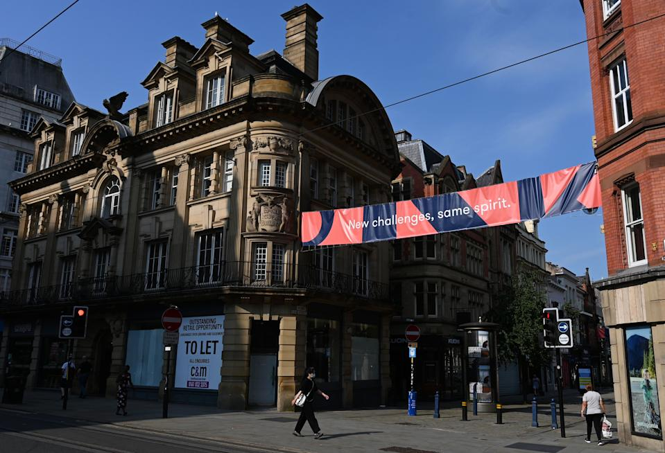 Police will be enforcing the restrictions in Manchester city centre this bank holiday weekend. (Getty)