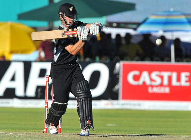 Kane Williamson of New Zealand pulls a delivery during the 2nd One Day International match between South Africa and New Zealand at De Beers Diamond Oval on January 22, 2013 in Kimberley, South Africa.(Photo by Duif du Toit/Gallo Images/Getty Images)