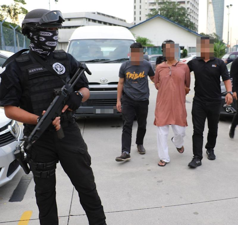 A 54-year-old Filipino electrician was among those detained for terrorism offences. — Picture courtesy of PDRM