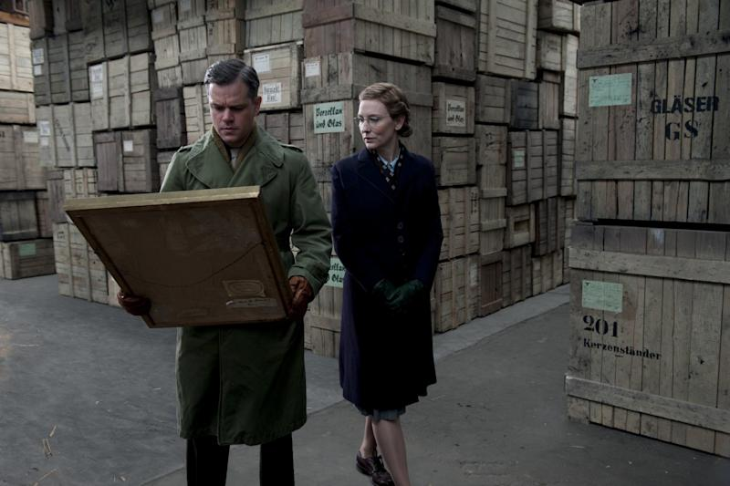 Matt Damon and Cate Blanchett in The Monuments Men (Sony Pictures)