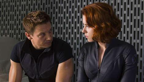 Hawkeye and Black Widow share a tender moment...