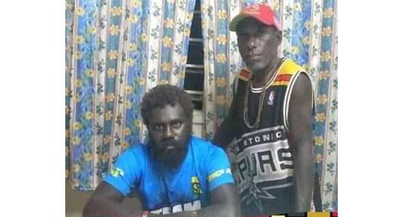A photo of Livae Nanjikana and Junior Qoloni who spent 29 days lost at sea after their GPS tracker stopped working. Source: SIBC News/YTTF