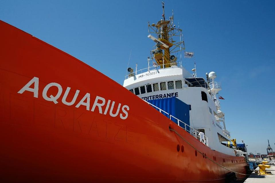 Italy barred the Aquarius rescue ship from docking in its ports, sparking an EU-wide migration row (AFP Photo/PAU BARRENA)