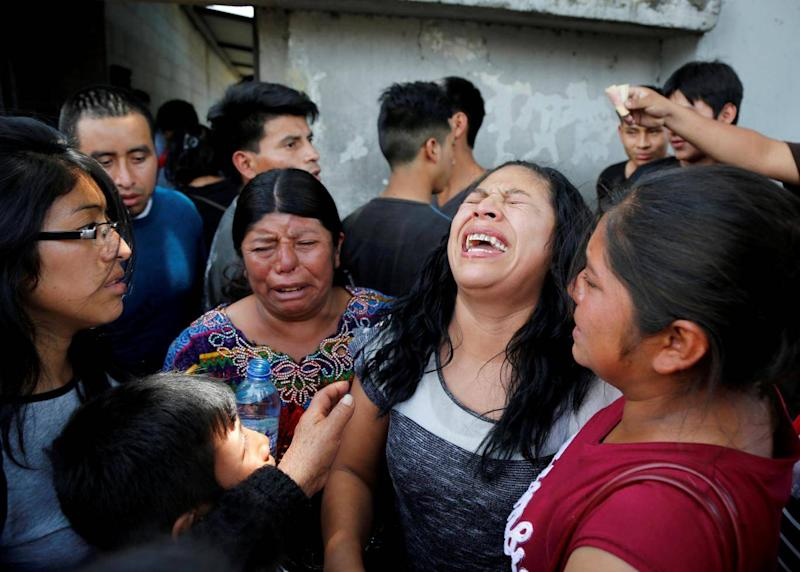 Guatemalan migrant Maria del Carmen Tambriz reacts after being returned from the U.S. without her daughter after they were separated by U.S. border officials in Guatemala city, Guatemala, July 26, 2018. (Reuters)