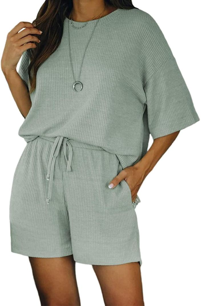 <p>Be comfy in this <span>Bdcoco Two-Piece Lounge Set</span> ($29).</p>