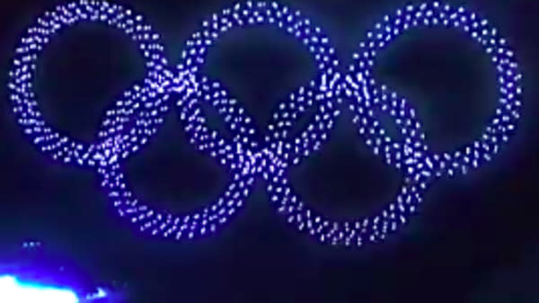 A squadron of 1,218 drones shape-shifted into a snowboarder and then the Olympic rings Friday during the Winter Olympics' televised presentation of the opening ceremony in Pyeongchang, South Korea ― and it was as dazzling as it sounds.