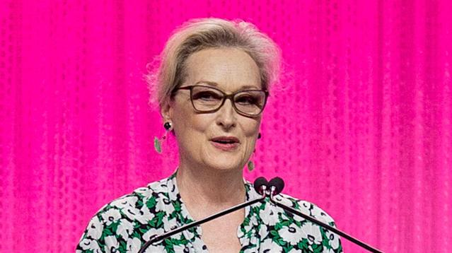 Meryl Streep recounted how she was changed by her own harrowing experiences with physical violence during a speech to journalists Wednesday night.
