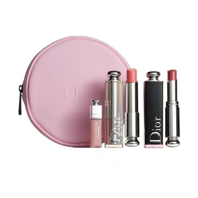 "<p>What's better than getting a classy set of lippies? A classy little pink bag to hold them all in! With this set you get just that, and the colors are wearable and flattering enough for everyday use. ($70, <a href=""http://shop.nordstrom.com/s/dior-addicted-to-nude-lip-set/4627594?origin=category-personalizedsort"" rel=""nofollow noopener"" target=""_blank"" data-ylk=""slk:nordstrom.com"" class=""link rapid-noclick-resp"">nordstrom.com</a>) </p>"