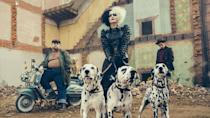 """<p>This origin story promises to do for Cruella De Vil what <em><a href=""""https://www.amazon.com/Maleficent-Bonus-Features-Angelina-Jolie/dp/B00KNOVIAE/?tag=syn-yahoo-20&ascsubtag=%5Bartid%7C10051.g.35153138%5Bsrc%7Cyahoo-us"""" rel=""""nofollow noopener"""" target=""""_blank"""" data-ylk=""""slk:Maleficent"""" class=""""link rapid-noclick-resp"""">Maleficent</a></em> did for the <em>Sleeping Beauty</em> villain. Emma Stone plays the iconic <em>101 Dalmatians</em> baddie in what's described as a crime comedy. Set in 1970s London, the movie finds Cruella working as a fashion designer (natch) when she develops an obsession with dog skins. Welp.</p><p><strong>In theaters May 28.</strong></p>"""