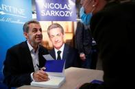 Former French President Sarkozy meets the readers of his latest book in Paris