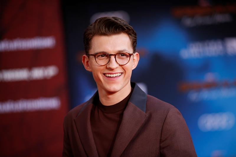 "Actor Tom Holland poses at the World Premiere of Marvel Studios' ""Spider-man: Far From Home"" in Los Angeles, California, U.S., June 26, 2019. REUTERS/Danny Moloshok"