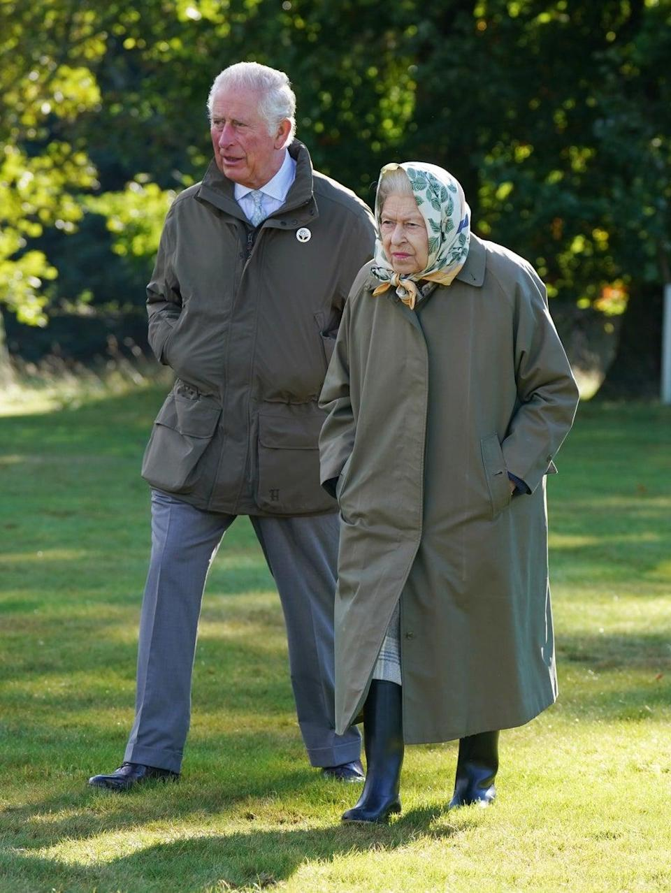 The Queen was joined by the Prince of Wales (PA Wire)