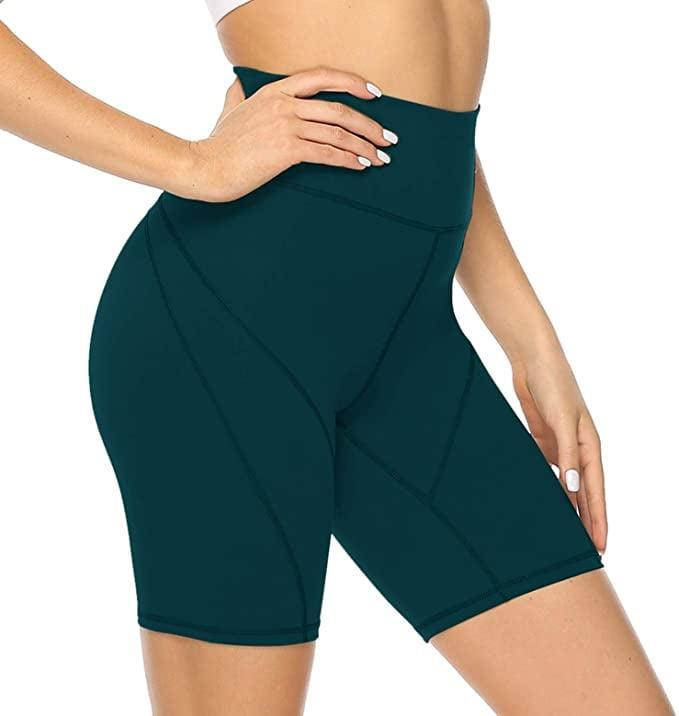 <p>These dark green <span>Joyspels Athletic Shorts</span> ($18) are cute! Plus, the colors are perfect for fall, so stock up now!</p>
