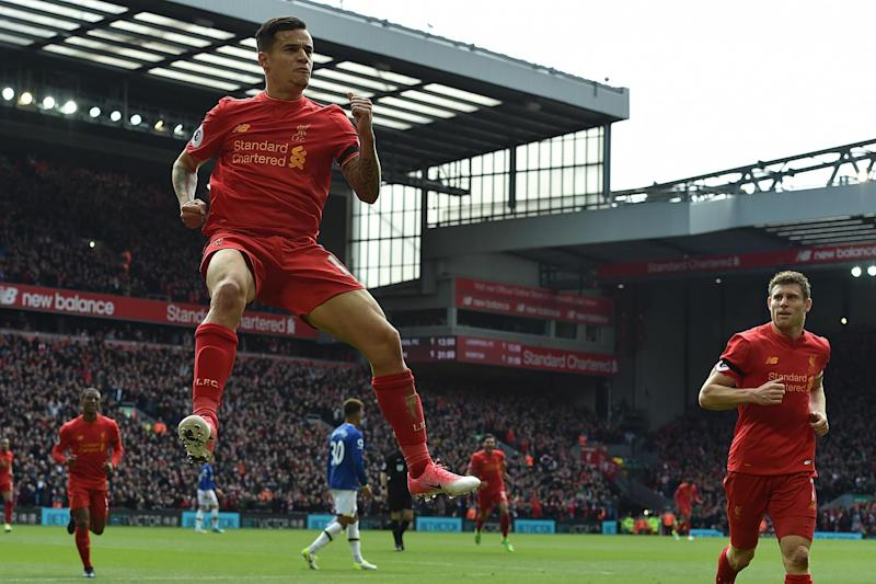 Back with a bang   The Brazilian scored just his second goal since November: Andrew Powell/Liverpool FC via Getty Images