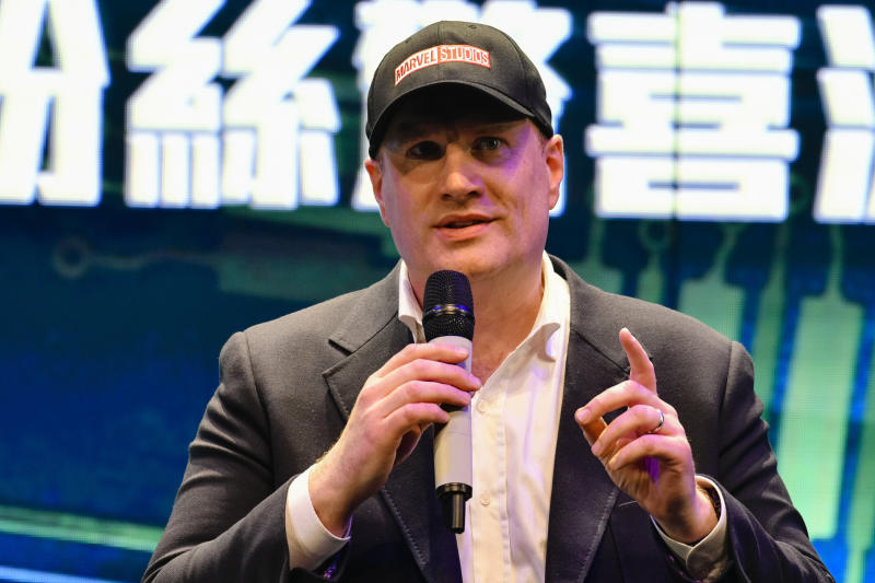 HONG KONG, HONG KONG - MARCH 28: Marvel Studios President Kevin Feige attends Ant-Man and The Wasp: Nano Battle! Launch ceremony on March 28, 2019 in Hong Kong, Hong Kong. The new 'Ant-Man and The Wasp: Nano Battle!' attraction premiered at Hong Kong Disneyland, the attraction will be open to public on March 31, 2019. (Photo by Keith Tsuji/Getty Images for Hong Kong Tourism Board)