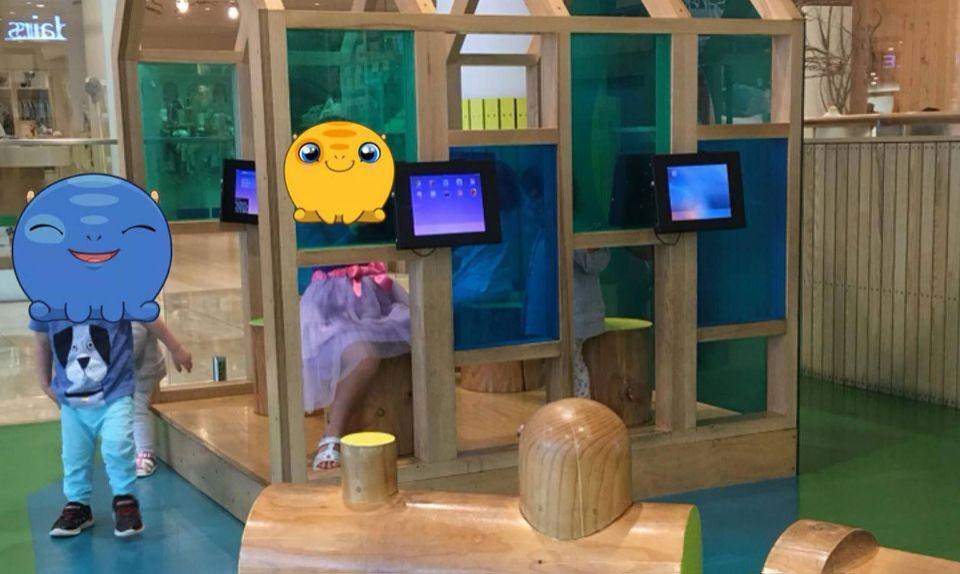 The play area is dominated by iPads. Source: Facebook