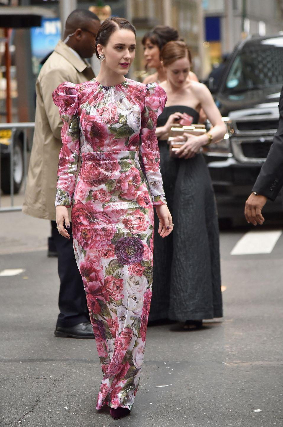 <p>The actress wore Dolce & Gabbana to the Tony Awards in New York.</p>