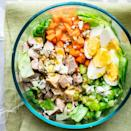 <p>This single-serving recipe for Cobb salad swaps chicken in for bacon, which makes it a great source of protein for lunch. If you prefer another salad dressing, feel free to use that instead of our honey-mustard vinaigrette.</p>