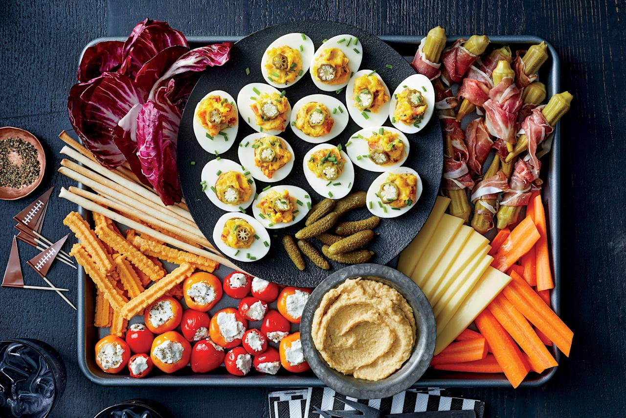 "<p><b>Recipe: </b><a href=""https://www.southernliving.com/recipes/bacon-deviled-eggs""><strong>Bacon Deviled Eggs</strong></a></p> <p>What's better than deviled eggs? Savory bacon deviled eggs, of course!</p>"