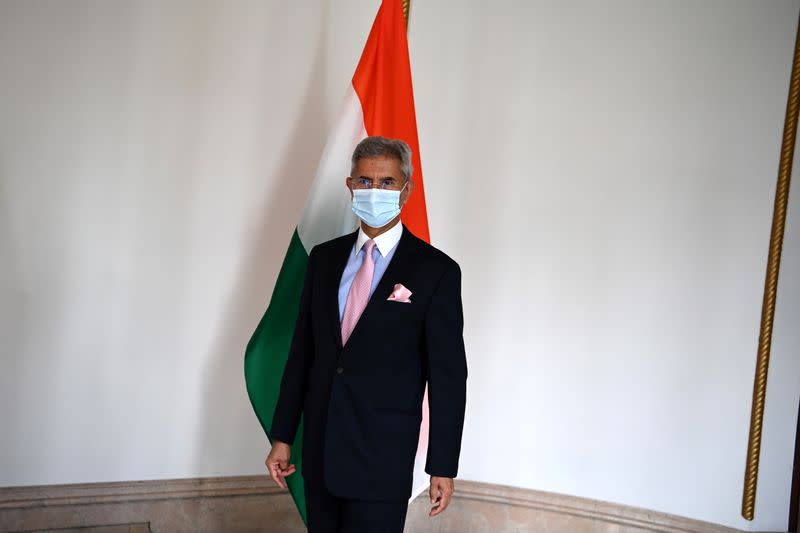 Indian Foreign Minister Jaishankar arrives to attend a meeting with U.S. Secretary of State Pompeo in Tokyo