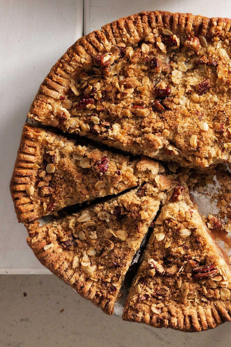 """<p>Guests won't be able to resist gobbling up this fruity, crumbly pie.</p><p><strong><a href=""""https://www.countryliving.com/food-drinks/recipes/a5620/pear-crumb-pie-recipe-clx0914/"""" rel=""""nofollow noopener"""" target=""""_blank"""" data-ylk=""""slk:Get the recipe"""" class=""""link rapid-noclick-resp"""">Get the recipe</a>.</strong></p>"""
