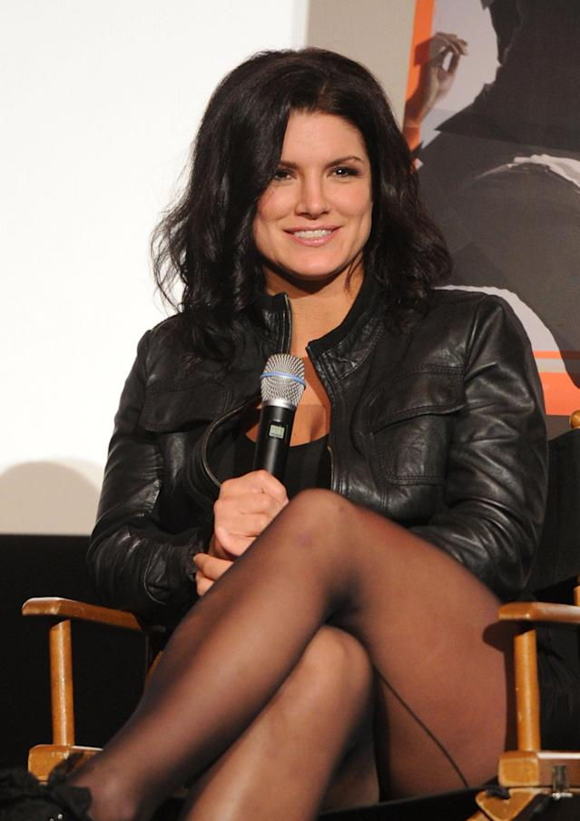 """HOLLYWOOD, CA - NOVEMBER 06: Actress Gina Carano attends the AFI FEST 2011 Presented By Audi secret screening of """"Haywire"""" held at Grauman's Chinese Theatre on November 6, 2011 in Hollywood, California. (Photo by Jason Merritt/Getty Images for Relativity Media)"""