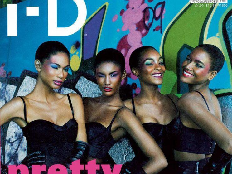 Black models on a cover of the magazine i-D