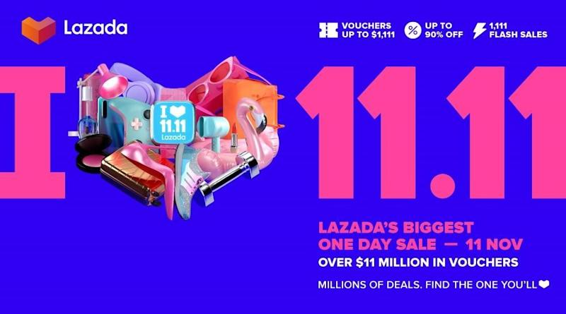 Lazada 11.11 shopping sale. (PHOTO: Lazada)