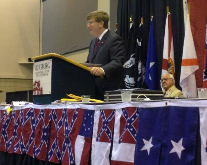 Mississippi Lt. Gov. Tate Reeves (R) spoke at a Sons of Confederate Veterans event in 2013. (Photo: Tate Reeves Facebook page)