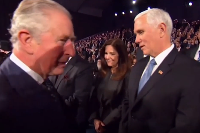 Prince Charles appears to snub Mike Pence