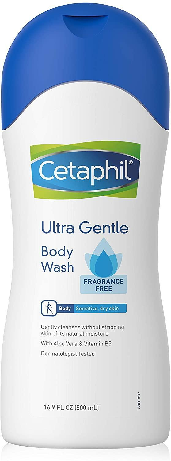 Cetaphil Fragrance-Free Ultra Gentle Refreshing Body Wash, best unscented body wash