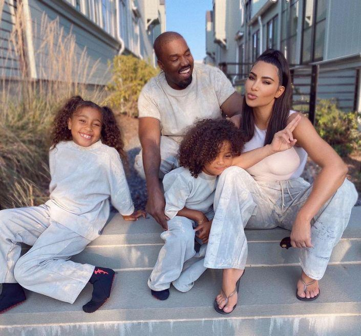 Kim Kardashian Kanye West and children as divorce confirmed